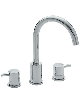 Ergo 3 Hole Deck Mounted Bath Filler Tap