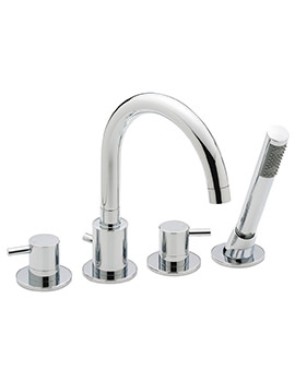 Ergo 4 Hole Deck Mounted Bath Shower Mixer Tap
