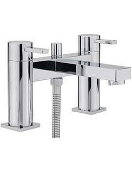 Evolution Deck Mounted Bath Shower Mixer Tap With No.1 Kit