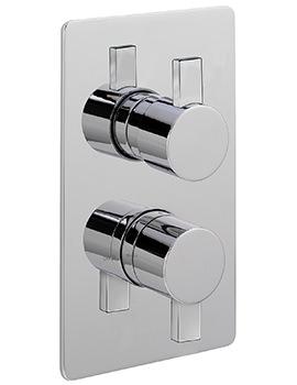 Evolution Concealed Thermostatic Shower Valve With 2 Way Diverter