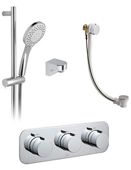 Tablet Altitude Horizontal 2 Outlet Thermostatic Shower Package