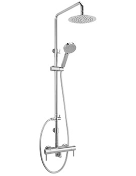 Piazza Exposed Thermostatic Shower Valve With Rigid Riser Kit