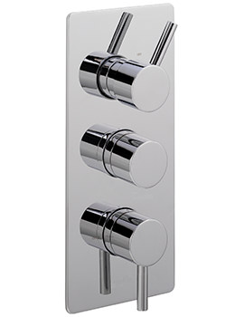 Ergo Concealed Thermostatic Shower Valve With 3 Way Diverter