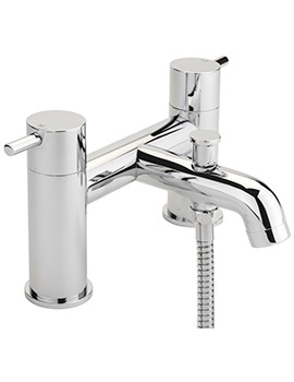 Ergo Deck Mounted Bath Shower Mixer Tap And No.1 Kit