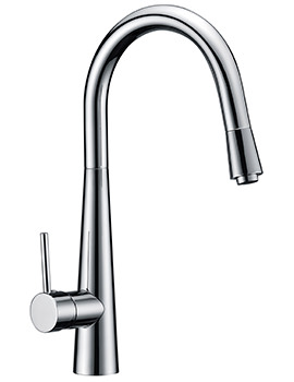 Flare Monobloc Kitchen Sink Mixer Tap With Pull Out Spray Head