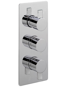 Evolution Concealed Thermostatic Valve With 3 Way Diverter