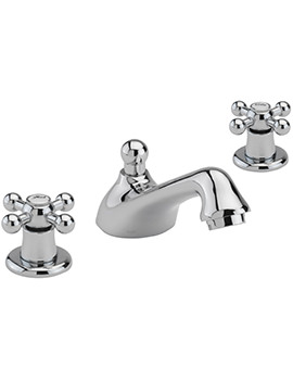 Fantasy 3 Hole Deck Mounted Basin Mixer Tap With Pop-Up Waste