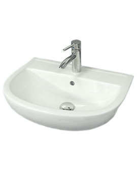 Compact 1 Tap Hole Semi Recessed Basin 450mm Left Hand - COM45SR1LH