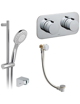Tablet Altitude Horizontal Thermostatic Shower Package