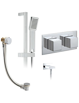 Tablet Notion Horizontal Shower Package With Bath Filler Waste