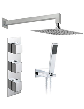 Tablet Notion Vertical 2 Outlet Thermostatic Shower Package