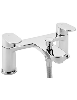 Metro Deck Mounted Bath Shower Mixer Tap With No.1 Kit