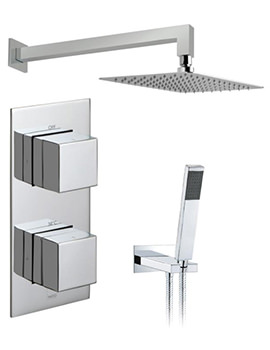 Tablet Notion Vertical Thermostatic Valve With Head And Shower Kit