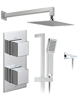 Tablet Notion Vertical Shower Valve With Head And Slide Rail Kit