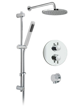 Celsius Round 2 Outlet Thermostatic Shower Package