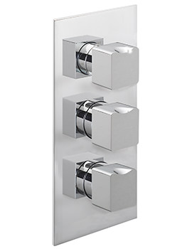 Matisse Concealed Thermostatic Shower Valve With 3 Way Diverter
