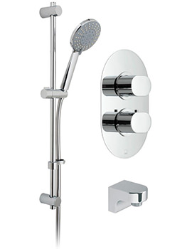 Vado Life Thermostatic Shower Valve With Evolve Slide Rail Kit