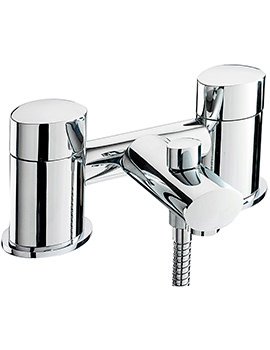 Oveta Deck Mounted Bath Shower Mixer Tap With No.1 Kit