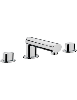 Oveta 3 Hole Deck Mounted Bath Filler Tap