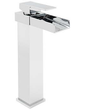 Nice Extended Monobloc Basin Mixer Tap With Sprung Waste