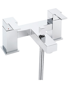 Navona Deck Mounted Bath Shower Mixer Tap And Kit