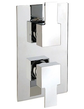 Navona Concealed Thermostatic Shower Valve With 2 Way Diverter