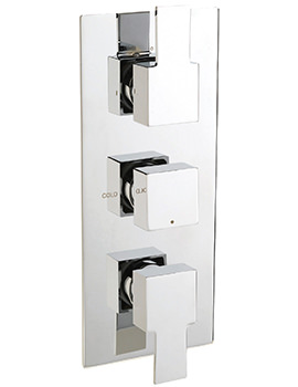 Navona Concealed Thermostatic Shower Valve With 3 Way Diverter