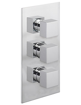 Pablo Concealed Thermostatic Shower Valve With 3 Way Diverter