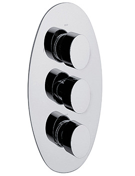 Oveta Concealed Thermostatic Shower Valve With 3 Way Diverter