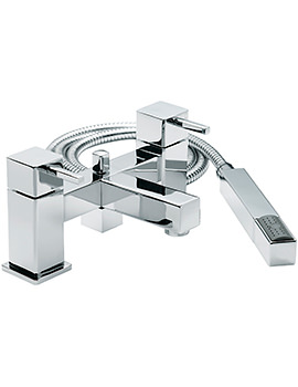 Pablo Deck Mounted Bath Shower Mixer Tap With No.1 Kit
