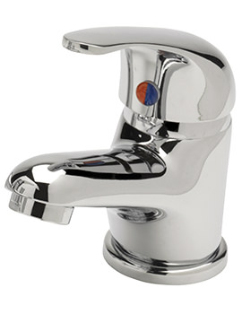 Prestige Eco Monobloc Basin Mixer Tap With Sprung Waste