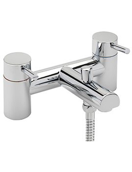 Piazza Deck Mounted Bath Shower Mixer Tap And Kit