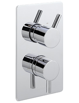 Piazza Concealed Thermostatic Shower Valve With 2 Way Diverter