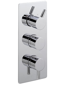 Piazza Concealed Thermostatic Shower Valve With 3 Way Diverter