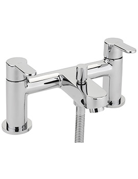 Plaza Deck Mounted Bath Shower Mixer Tap With No.1 Kit