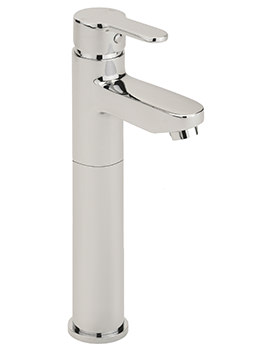 Plaza Extended Monobloc Basin Mixer Tap With Sprung Waste