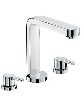 Plaza 3 Hole Deck Mounted Bath Filler Tap