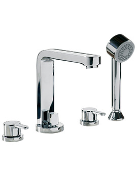 Plaza 4 Hole Deck Mounted Bath Shower Mixer Tap