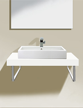 Duravit Fogo 1200 x 550mm White Matt Fixed Console - FO089CX1818