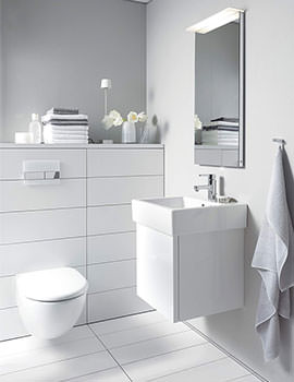 Vero 400mm Single Door Vanity Unit And 450mm Basin