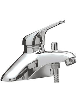 Prestige Deck Mount Single Lever Bath Shower Mixer Tap With Kit