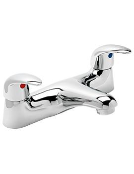 Prestige Deck Mounted Twin Lever Bath Filler Tap