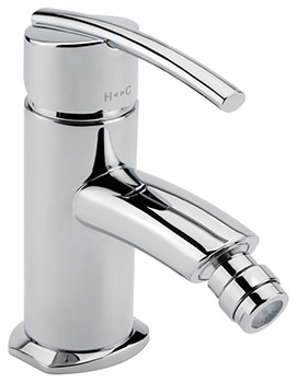 Pure Monobloc Bidet Mixer Tap With Pop-Up Rod Waste