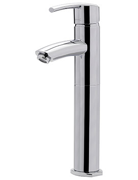 Pure Extended Monobloc Basin Mixer Tap With Sprung Waste