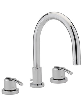 Pure 3 Hole Deck Mounted Bath Filler Tap