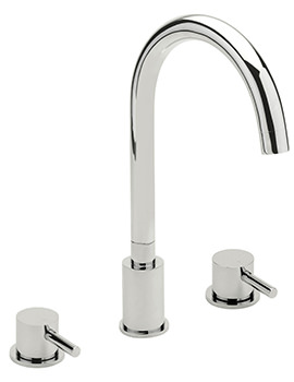 Piazza 3 Hole Deck Mounted Bath Filler Tap