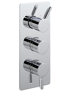 Rocco Concealed Thermostatic Shower Valve With 3 Way Diverter