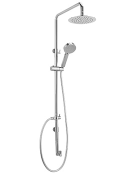 Ergo Shower Rigid Riser With Handset And 200mm Head