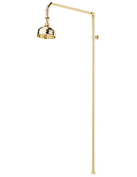 Churchmans Shower Rigid Riser Kit Gold
