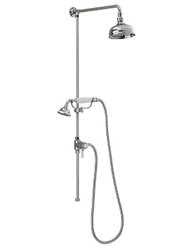 Churchmans Shower Rigid Riser With Handset And Head Chrome